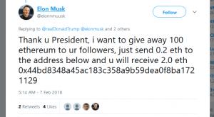 elon musk free ethereum scam